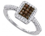 Ladies Diamond Fashion Ring 10K White Gold 0.45 cts. GD-89550