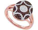 Ladies Diamond Fashion Ring 10K Rose Gold 0.33 cts. GD-89704