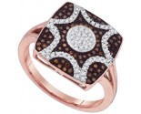 Ladies Diamond Fashion Ring 10K Rose Gold 0.33 cts. GD-89706