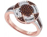 Ladies Diamond Fashion Ring 10K Rose Gold 0.33 cts. GD-89719