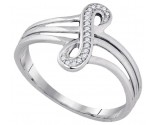 Ladies Diamond Infinity Ring 10K White Gold 0.04 cts. GD-89729