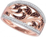 Ladies Diamond Fashion Ring 10K Rose Gold 0.25 cts. GD-89730
