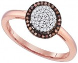 Ladies Diamond Fashion Ring 10K Rose Gold 0.15 cts. GD-89731