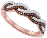 Ladies Diamond Fashion Ring 10K Rose Gold 0.25 cts. GD-89735