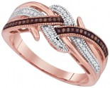 Ladies Diamond Fashion Ring 10K Rose Gold 0.15 cts. GD-89742