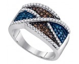 Mix Color Diamond Fashion Ring 10K White Gold 0.62 cts. GD-90154