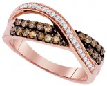 Brown Diamond Fashion Ring 10K Rose Gold 0.49 cts. GD-90335