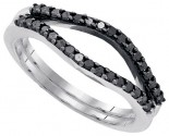Black Diamond Ring Enhancer 10K White Gold 0.33 cts. GD-90416