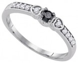 Black Diamond Bridal Ring 10K White Gold 0.20 cts. GD-90470