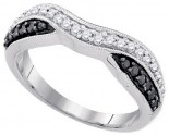 Black Diamond Bridal Ring 10K White Gold 0.33 cts. GD-90473
