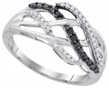Black Diamond Fashion Ring 10K White Gold 0.25 cts. GD-90483