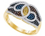 Mix Color Diamond Fashion Ring 10K Yellow Gold 0.50 cts. GD-91677