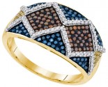 Mix Color Diamond Fashion Ring 10K Yellow Gold 0.75 cts. GD-91783