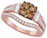Brown Diamond Bridal Ring 14K Rose Gold 1.00 ct. GD-92668