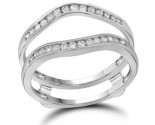 Diamond Ring Enhancer 14K White Gold 0.25 cts. GD-92866