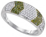 Green Diamond Fashion Ring 10K White Gold 0.33 cts. GD-93155