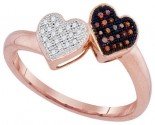 Ladies Diamond Heart Ring 10K Rose Gold 0.10 cts. GD-93267