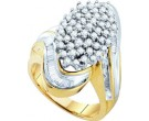 Diamond Cocktail Ring 10K Yellow Gold 1.00 ct. GD-9349