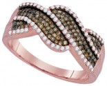 Cognac Diamond Fashion Ring 10K Rose Gold 0.50 cts. GD-93972