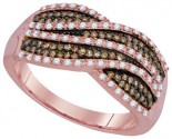Cognac Diamond Fashion Ring 10K Rose Gold 0.50 cts. GD-93973