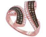 Cognac Diamond Fashion Ring 10K Rose Gold 0.50 cts. GD-93974