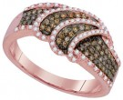 Cognac Diamond Fashion Ring 10K Rose Gold 0.50 cts. GD-93975