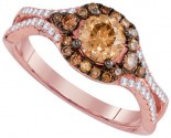 Cognac Diamond Bridal Ring 14K Rose Gold 1.12 cts. GD-94297