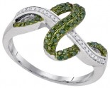 Green Diamond Fashion Ring 10K White Gold 0.25 cts. GD-94830