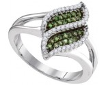 Green Diamond Fashion Ring 10K White Gold 0.30 cts. GD-95053