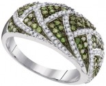 Green Diamond Fashion Ring 10K White Gold 0.70 cts. GD-95057