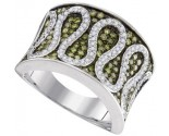 Green Diamond Fashion Ring 10K White Gold 0.75 cts. GD-95059