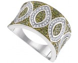 Green Diamond Fashion Ring 10K White Gold 0.65 cts. GD-95067