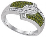 Green Diamond Fashion Ring 10K White Gold 0.33 cts. GD-95079