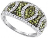 Green Diamond Fashion Ring 10K White Gold 0.75 cts. GD-95085