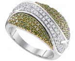 Green Diamond Fashion Ring 10K White Gold 0.75 cts. GD-95087