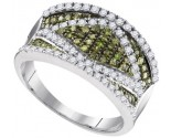 Green Diamond Fashion Ring 10K White Gold 0.90 cts. GD-95093