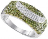 Green Diamond Fashion Ring 10K White Gold 0.75 cts. GD-95095