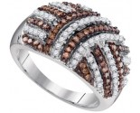 Ladies Diamond Fashion Ring 10K White Gold 0.75 cts. GD-95174