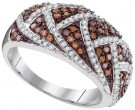 Ladies Diamond Fashion Ring 10K White Gold 0.70 cts. GD-95176