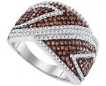 Ladies Diamond Fashion Ring 10K White Gold 1.00 ct. GD-95180
