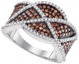 Ladies Diamond Fashion Ring 10K White Gold 1.00 ct. GD-95182