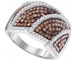 Ladies Diamond Fashion Ring 10K White Gold 1.00 ct. GD-95186