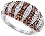 Ladies Diamond Fashion Ring 10K White Gold 0.75 cts. GD-95202