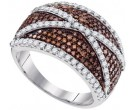 Ladies Diamond Fashion Ring 10K White Gold 1.00 ct. GD-95208