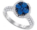Ladies Diamond Sapphire Ring 14K White Gold 2.02 cts. GD-95392