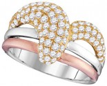 Diamond Fashion Band 14K Tri Color Gold 1.15 cts. GD-95421