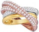 Diamond Fashion Band 14K Tri Color Gold 1.29 cts. GD-95422