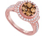 Cognac Diamond Fashion Ring 14K Rose Gold 1.00 ct. GD-95515