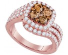 Cognac Diamond Fashion Ring 14K Rose Gold 2.00 ct. GD-95516