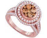 Cognac Diamond Fashion Ring 14K Rose Gold 1.51 cts. GD-95517